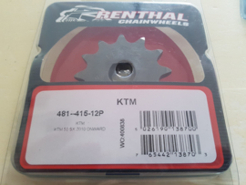 KTM SX 50 / HUSQVARNA TC 50 RENTHAL VOORTANDWIEL 12 TANDS 2009-2020