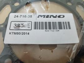 KTM SX 50 / HUSQVARNA TC 50 MINO ACHTERTANDWIEL STAAL 38 TANDS 2014-2019
