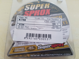 KTM SX 50 / HUSQVARNA TC 50 SUPERSPROX VOORTANDWIEL 11 TANDS 2009-2020