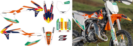 KTM SX 65 COMPLETE ORIGINELE KTM FACTORY STICKERSET 2016 - 2020