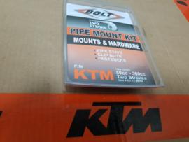 KTM SX 50 , SX 65 , SX 85 / HUSQVARNA TC 50 , TC 65 , TC 85 UITLAAT MONTAGE SET  ALLE BOUWJAREN