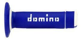 DOMINO WAFFEL X-TREME GRIPS ALLE MODELLEN / ALLE BOUWJAREN BLAUW/WIT