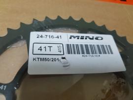 KTM SX 50 / HUSQVARNA TC 50 MINO ACHTERTANDWIEL STAAL 41 TANDS 2014 - 2019