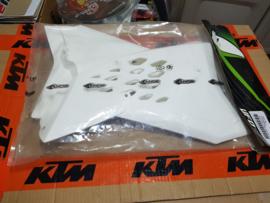 KTM SX 65 RADIATEURKAPPEN WIT 2009 - 2015 NIEUW !!