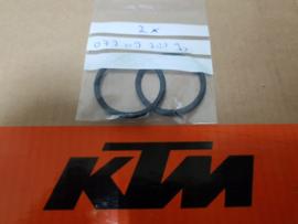 KTM SX 50 / HUSQVARNA TC 50 SET UITLAATRINGEN ALLE BOUWJAREN