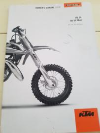 KTM SX 50 HANDLEIDING MODELJAAR 2018 ENGELS