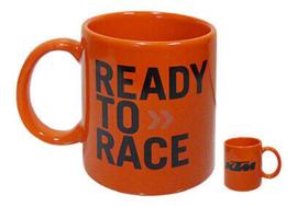 ORIGINELE KTM READY TO RACE KOFFIE MOK ORANJE