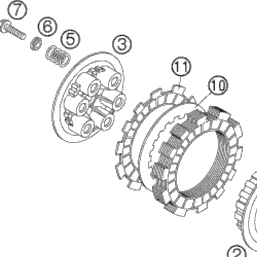 KTM SX 85 / HUSQVARNA TC 85 DRUKPLAAT KOPPELING 2003 - 2017 NIEUW
