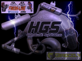 KTM SX 85 / HUSQVARNA TC 85 / GAS GAS MC 85 GRIZZLY RACING HGS UITLAAT 2018-2021 NIEUW !
