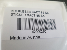 KTM SX 85 / HUSQVARNA TC 85 SCHOKBREKER WARNING STICKER  XACT 2020 - 2021