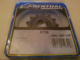 KTM SX 65 / HUSQVARNA TC 65 RENTHAL VOORTANDWIEL 13TANDS ALLE JAREN