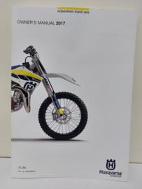 HUSQVARNA TC 85 HANDLEIDING MODELJAAR 2017 ENGELS