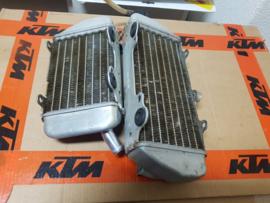 KTM SX 85 / HUSQVARNA TC 85 SET ORIGINELE RADIATEURS 2013-2017 GEBRUIKT