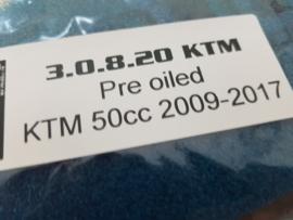KTM SX 50 / HUSQVARNA TC 50 PRE OILED LUCHTFILTER 2009 - 2020