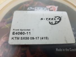 KTM SX 50 / HUSQVARNA TC 50 / GAS GAS MC 50 VOORTANDWIEL  11 TANDS S-STEEL/TMV/AFAM/ MOTOMASTER 2009-2021