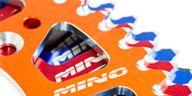 KTM SX 50 / HUSQVARNA TC 50 / GASGAS MC 50 MINO RACING / MOTOMASTER ACHTERTANDWIEL ORANJE  39 TANDS 2014 - 2021