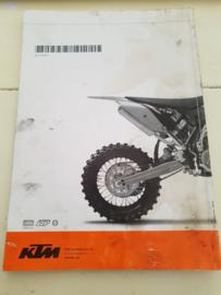 KTM SX 65 HANDLEIDING MODELJAAR 2009 ENGELS