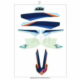 KTM SX 50 COMPLETE ORIGINELE FACTORY STICKERSET 2021
