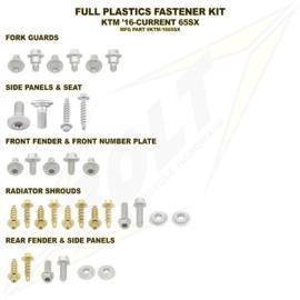 KTM SX 65 / HUSQVARNA TC 65 BOLT MONTAGESET PLASTIC 2016 - 2020