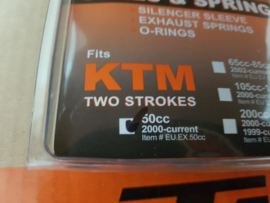 KTM SX 50 / SX 50 MINI / HUSQVARNA TC 50 COMPLETE UITLAAT AFDICHTINGSSET 2002 - 2020