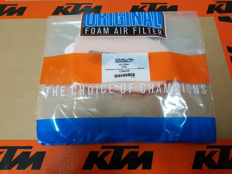 KTM SX 50 / HUSQVARNA TC 50 TWIN AIR LUCHTFILTER 2009 - 2020