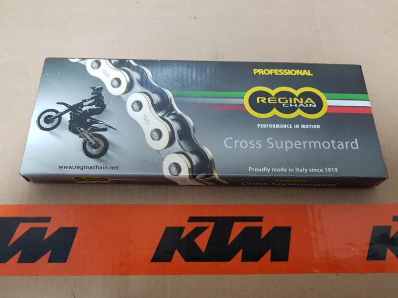 KTM SX 50 / HUSQVARNA TC 50 / GAS GAS MC 50 REGINA KETTING GOLD RH2 415-130 ALLE BOUWJAREN