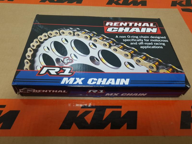 KTM SX 85 / HUSQVARNA TC 85 RENTHAL R1 GOLD KETTING 428 X 130 ALLE BOUWJAREN