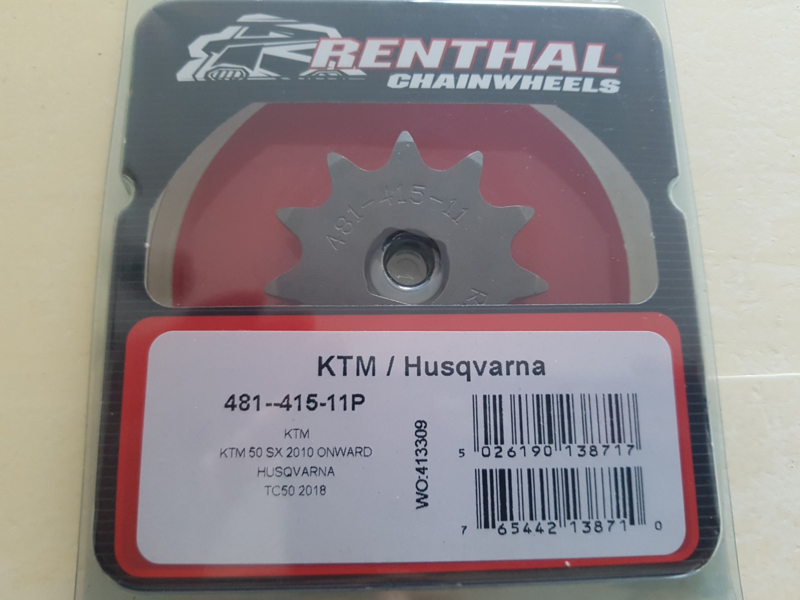 KTM SX 50 / HUSQVARNA TC 50 RENTHAL VOORTANDWIEL 11 TANDS 2009-2020