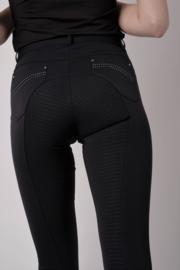 Lina normalwaist crystal pockets - Black, Fullgrip