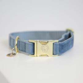 Kentucky honden band velvet light blue