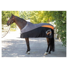 Fleecedeken Equestrian Society Orange maat 205