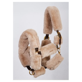 Harry horse furry halster cover taupe