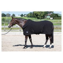 Harry horse fleecedeken met oprolbare nek jet-black maat 195
