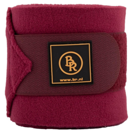 BR fleece bandages Event red plum