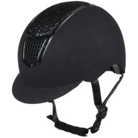 Hkm helm Brillant zwart / zilver