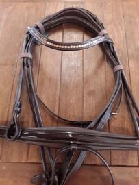 Lj leather hoofdstel serrento bruin full