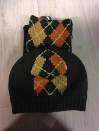 Br sjaal + muts