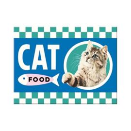 Cat Food. Koelkastmagneet 8 cm x 6 cm.