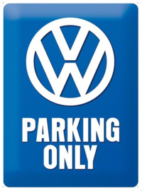 VW Parking Only Metalen wandbord in reliëf 30 x 40 cm
