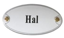 Hal Emaille Naambordje 10 x 5 cm Ovaal