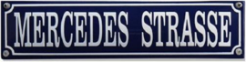 Mercedes Strasse Emaille bordje.