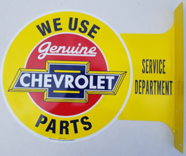 We Use Genuine Chevrolet Parts.  Aluminium uithangbord 34 x 45 cm.