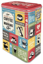 Coffee Collage Bewaarblik met clipsluiting
