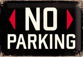 No ParkingMetalen wandbord in reliëf 20 x 30 cm