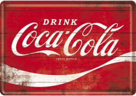 Coca-Cola Wave Metalen Postcard 10 x 14 cm.