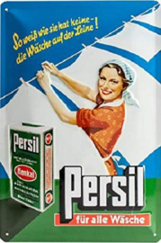 Persil Fur Alle Wasche  Metalen Wandbord in reliëf 20 x 30 cm
