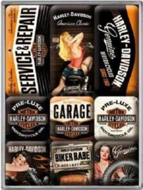 Harley Davidson Magneet set.
