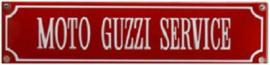 Moto Guzzi Service Emaille  bordje.