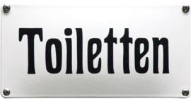 Toiletten Emaille bordje 20 x 10 cm.