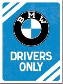BMW Drivers Only. Koelkastmagneet 8 cm x 6 cm.